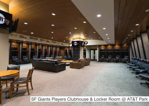 San Francisco Giants PLAYERS CLUBHOUSE & LOCKER ROOM