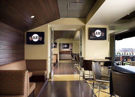 Hubbard godfrey architects san francisco giants legends club for Dining near at t park